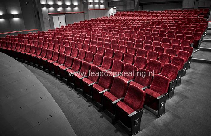 leadcom seating auditorium seating installation Slagelse Theater