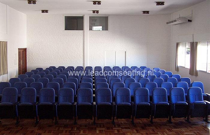 leadcom seating auditorium seating installation Uruguay Defense Department