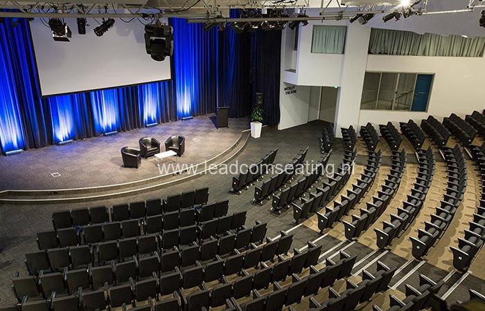 leadcom seating auditorium seating installation Wesley Theatre 1