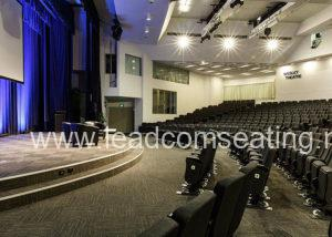 leadcom seating auditorium seating installation Wesley Theatre 2