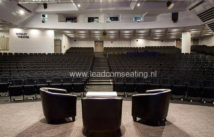 leadcom seating auditorium seating installation Wesley Theatre